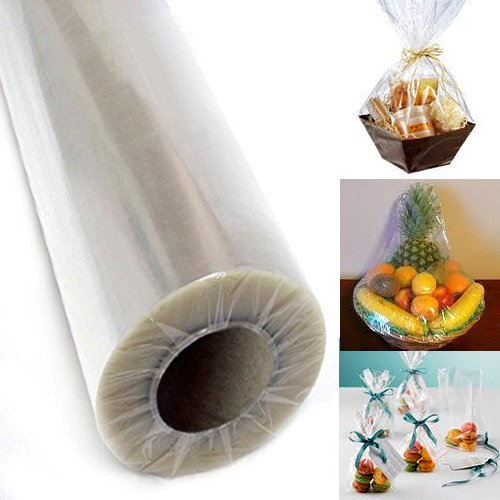 Adorox 40″ Inch 100′ Ft Clear Cellophane Wrap Roll  Meet FDA specifications