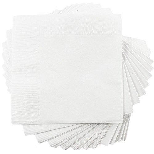 5″ x 5″ – 50/Pack – JAM Paper Small Beverage Napkins – White