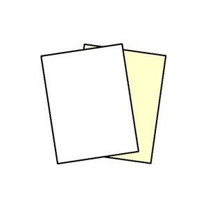 250 Sets, NCR Paper, 5887, Collated 2 Part White, Canary, Letter Size Carbonless Paper Appleton