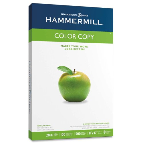 Hammermill Paper, Color Copy Digital, 28lb, 11 x 17, Ledger, 100 Bright,  500 Sheets / 1 ream 102541, Made In The USA