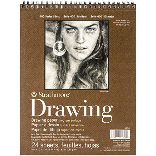 Strathmore Medium Drawing Spiral Paper Pad 8″X10″-24 Sheets