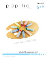 10 Sheets – Papilio Inkjet White Waterproof Vinyl