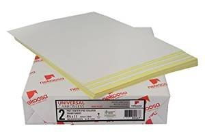 250 Sets – 8-1/2 x 11 – 500 Sheets – Pre-collated Carbonless Paper – Canary/White – 10.5M – Nekoosa Universal 2 Part Reverse Strike – 80 GSM