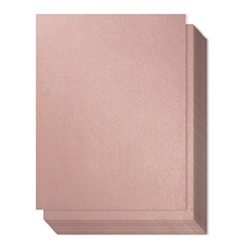 96 count metallic rose pink stationery paper invitation paper for