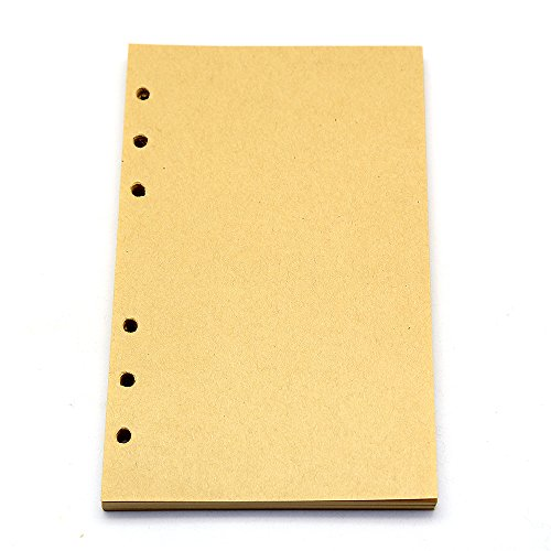 Suitable for 7x5Inches Vintage Retro Leather Cover Notebook. Paper size: 6. 7 x 4. 1 inches. Sheet: 80 Refillable vintage diary notebook Refillable Paper It ...