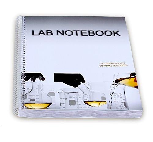 BARBAKAM Lab Notebook 100 Carbonless Pages Spiral Bound Copy Page Perforated
