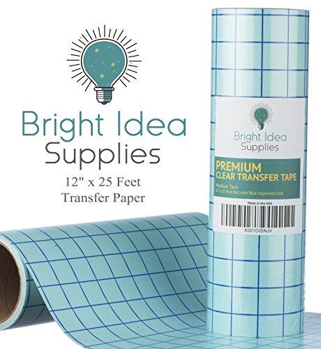 Bright Idea 12″ x 25 Feet CLEAR Transfer Paper Tape Roll