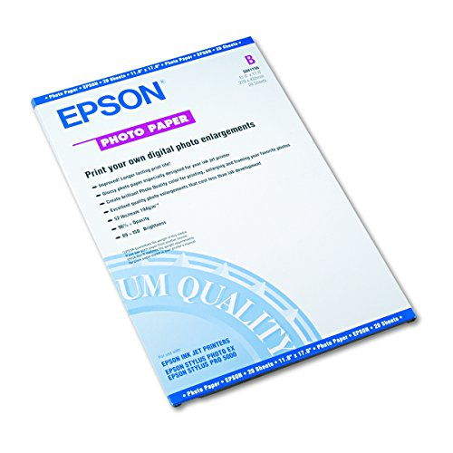 Epson Premium Photo Paper GLOSSY 13×19 Inches, 20 Sheets S041289