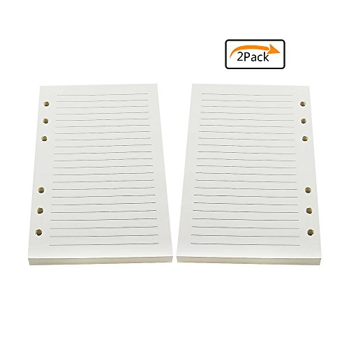 Purture leather journal refill lined paper, thick, write or draw anything important message -6-holes lined refills paper, easy to take out and in, ...