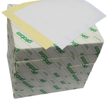 Carbonless Paper 2-Part  5 Reams / 2500 Sheets 1250 sets Bright White / Canary 8 1/2 x 11