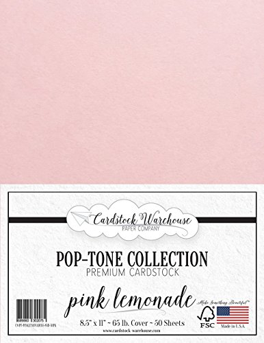 25 Sheets Premium Cover From Cardstock Warehouse 65 Lb Pink