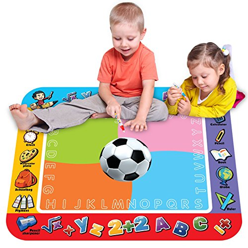 Large Deluxe Water Drawing Mat, Magic 3D Football painting pad, 4 ...