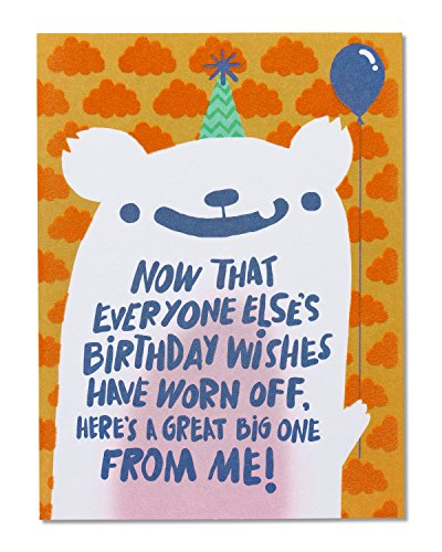 American Greetings Funny Birthday Wishes Belated Birthday Card With