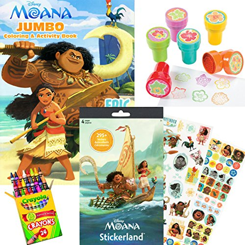 A Must Have For Disney Moana Fans 75 Stickers Over 295 Featuring Characters Coloring Activity Book
