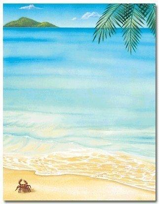 Tropical Beach Summer Laser & Inkjet Computer Printer ...