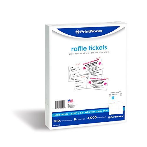 photograph regarding Printable Tickets With Tear Away Stubs identified as PrintWorks Perforated Paper for Raffle Tickets, Coupon codes, and