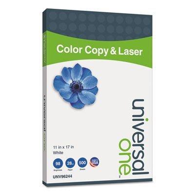 Copier/Laser Paper, 98 Brightness, 28lb, 11 x 17, White, 500 Sheets/Ream, Sold as 1 Ream, 500 per Ream
