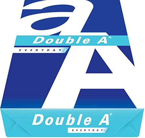 Double A Everyday Copy Paper, 8.5 x 11 Inches Letter Size, 20 lb. Density, 96 Brighter White, Ream, 500 Total Sheets DA851120 20# Single Ream