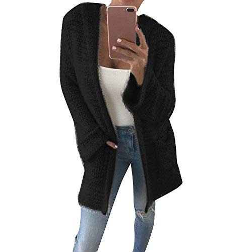 XOWRTE Cardigan for Women Winter Acrylic Long Sleeve Outerwear Blouse Jacket Autumn Knit Pocket Casual Loose Warm Coat
