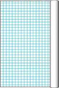 34 1/2 Inch x 200 Feet – Pacon Grid Roll with 1 Inch Grid Rule