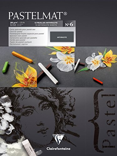Pastelmat pad no6 30x40cm 12sh 360g – Clairefontaine 30 x 40 cm Pastelmat Glued