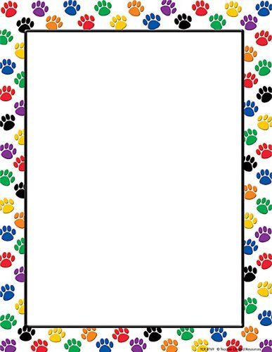 Teacher Created Resources Colorful Paw Prints Computer Paper 4769