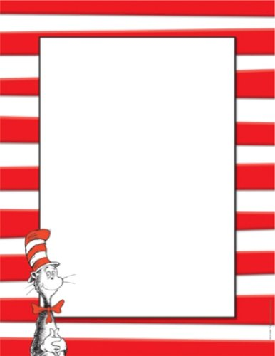 Eureka Dr. Seuss The Cat in the Hat Computer Paper, Package of 50 Sheets 812110