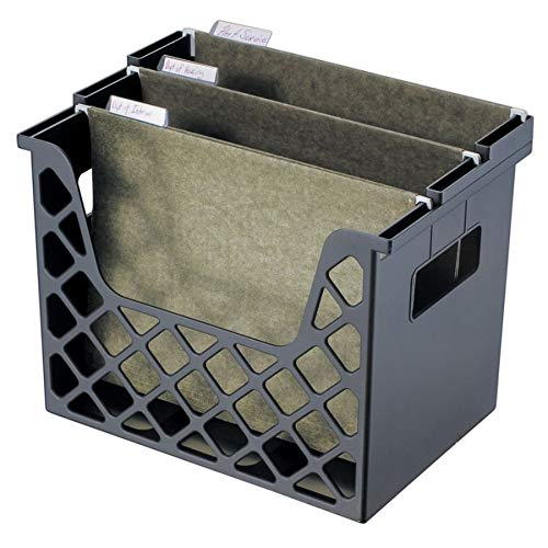 Office Depot 30% Recycled Desktop File Organizer, 10 3/4in.H x 13 1/4in.W x 8 5/8in.D, Black, 10413