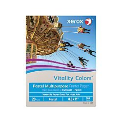 Xerox Vitality Colors Multipurpose Printer Paper, Letter Paper Size, 20 Lb, 30% Recycled, Gray, Ream of 500 Sheets
