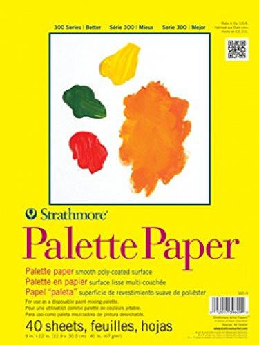 Strathmore 365-12 STR-365-12 40 Sheet Disposable Palette, 12 by 16″, 12″x16″