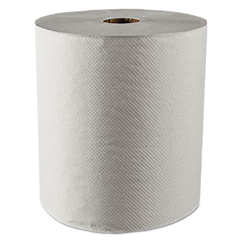 Scott 01052 Hard Roll Towels, 100% Recycled, 1.5″ Core, White, 8″ x 800ft Case of 12 Rolls