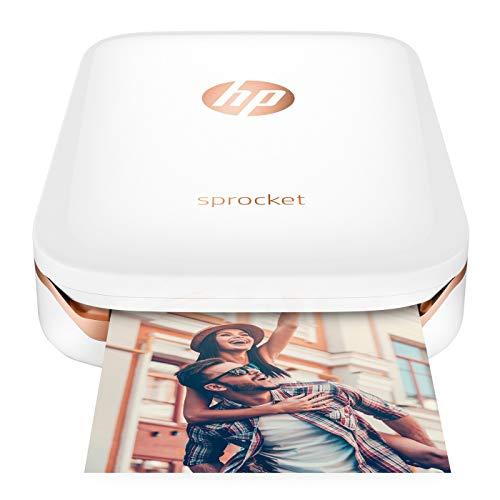 Portable Photo Printer, Print Social Media Photos 5 x 7.6 cm, White – HP Sprocket Z3Z91A#630