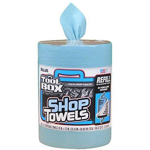 SELLARS WIPERS & SORBENTS 55207 Blue Toolbox Z400 Big Grip Refill Blue Shop Towels, 2493114, 10″ x 12″, 200 Sheets per Roll, 6 Rolls per Case