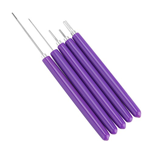 Anndason 5 in 1 Quilling Tools, 5pcs Different Size Quilling Slotted Tools