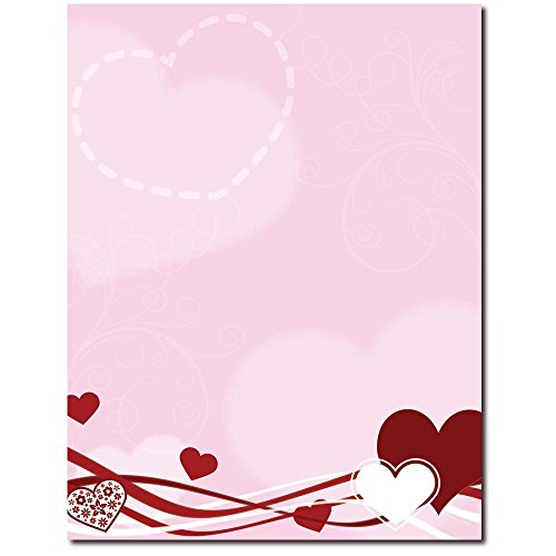 Hearts & Swirls Letterhead Laser & Inkjet Printer Paper, 25 pack