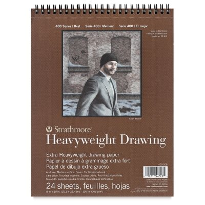 Strathmore 400 Series Heavyweight Drawing Pad, Medium Surface, 11″x14″ Wire Bound, 24 Sheets