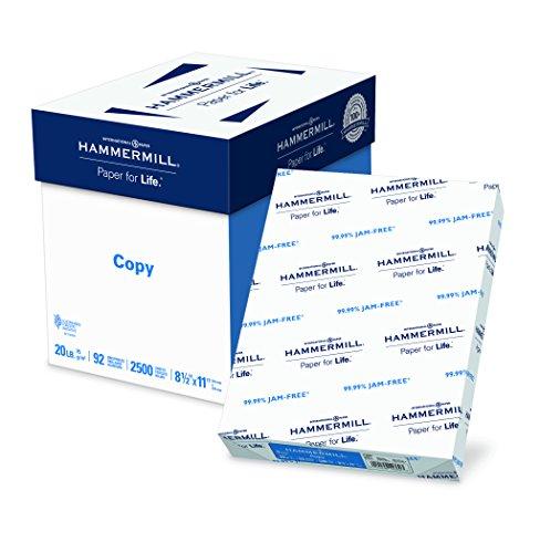 Hammermill Paper, Copy Paper, 8.5 x 11 Paper, Letter Size, 20lb Paper, 92 Bright, 5 Ream Case / 2,500 Sheets 113600C Acid Free Paper