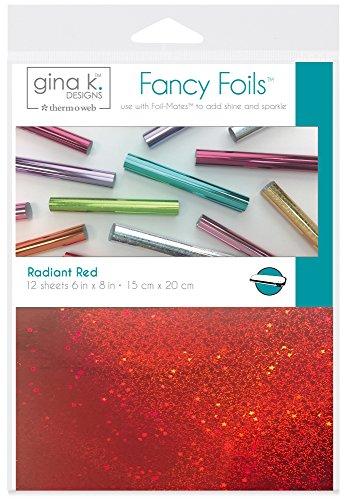 Gina K. Designs for Therm O Web Radiant Red Gina K Designs Fancy Foil 6″X8″ 12/Pkg