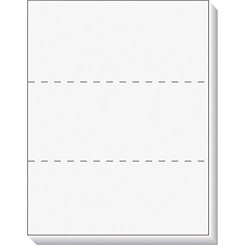 TOPS Laser Cut Sheet Paper, Perforated Every 3-2/3 Inches, 8.5 x 11 Inches, 20 Pound, 500 Sheets, White 5030