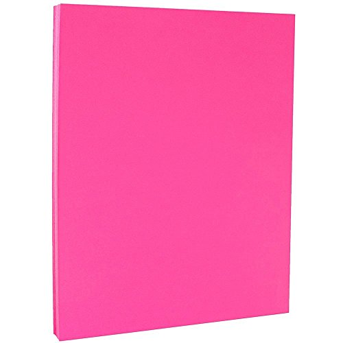 100 Sheets/Pack – 8.5 x 11 Letter – JAM PAPER Colored 24lb Paper – Ultra Fuchsia Pink