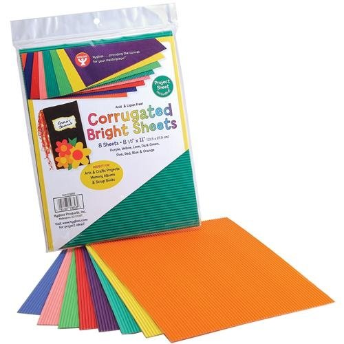 30 Pack Corrugated Paper For Craft And Diy Projects Cardboard