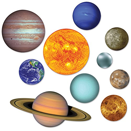 10 Piece Double Sided Solar System Cutouts Decorations