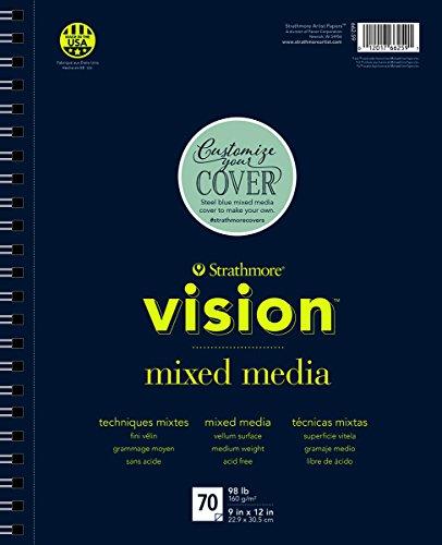 Strathmore 662-61 Vision Mixed Media Pad, 11″ x14, 70 Sheets