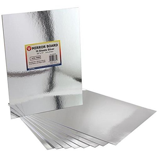 Hygloss Mirror Board, 8.5 by 11-Inch, Silver, 20-Pack