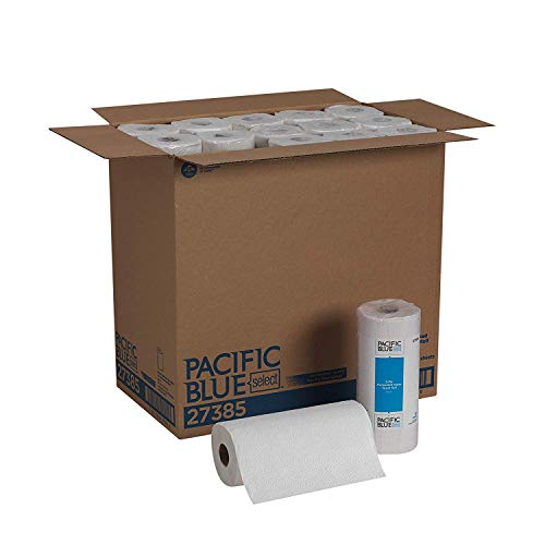 Pacific Blue Select 2-Ply Perforated Paper Towel Roll Previously Preference by GP PRO, White, 27385, 85 Sheets Per Roll, 30 Rolls Per Case