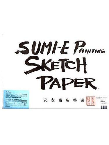 Yasutomo Rice Paper Sketch Pad, 12-1/8 X 18-1/8 in, 48 Sheets – 244074