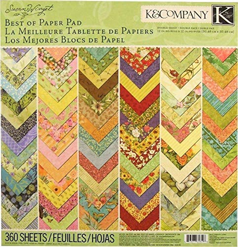 K&Company Best of Susan Winget 12″ x 12″ Specialty Paper Pad, 360 Sheets