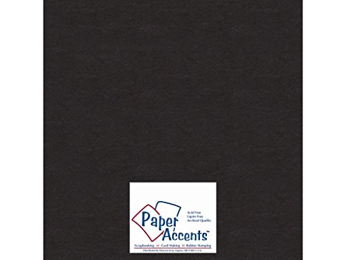 Accent Design Paper Accents Chpbrd Chipboard 12×12 1X Heavy 50pt Black, 25 Piece