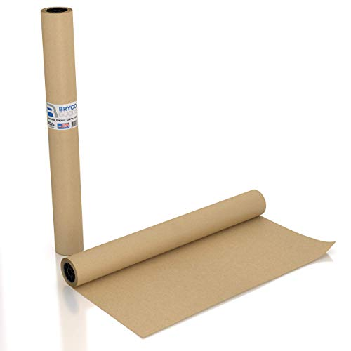 Large Brown Kraft Paper Roll – Made in The USA – Ideal for Gift Wrapping, Packing, Moving, Postal, Shipping, Parcel, Wall Art, Crafts, Bulletin Boards, Floor Cover, Table Runner – 36″ x 1200″ 100 ft