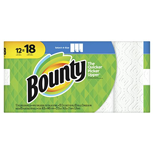 Bounty Bounty 74795 Select-a-size Paper Towels, 2-ply, White, 5.9 X 11, 83 Sheets/roll, 12 Rolls/ct, 20 Fluid Ounce